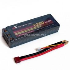 Li-Po Hard case 7.4v 6200mAh 60C with Deans to Banana Connector