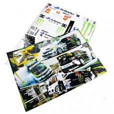 Набор наклеек для моделей Monster Energy Subaru Impreza