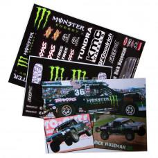 Набор наклеек для моделей MONSTER BLACK SC Buggy Body Team Driftsylvania (2 листа)