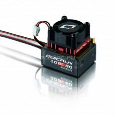 Бесколлекторный сенсорный регулятор QuicRun-10BL60 для автомоделей масштаба 1:10 красный