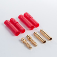 Turborix Advance 4.0mm Thermostable Gold Connectors & ShrinkPlastic Tubes Set (2 Pairs)