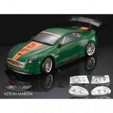 Кузов 1:10 Aston Martin DBR9 не окрашенный с отражателями, набором масок, спойлерами, зеркалами и дворниками