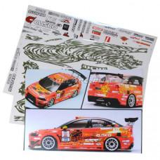 Набор наклеек для моделей YUKE'S TIGER EVOLUTION X Race Drift RC Car Body Self Adhesive