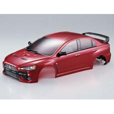 Кузов окрашенный 1/10 RED LANCER EVOLUTION X