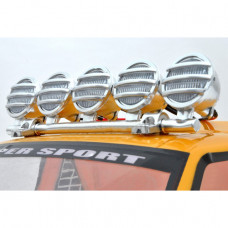 RC Crawler LED Light Bar Set (5 Spotlight) - Silver