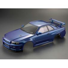 Кузов окрашенный 1/10 NISSAN SKYLINE BNR34 Metallic Blue