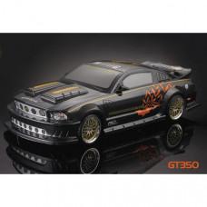 Кузов Ford Mustang 66 GT350 Carbon Fiber Body 200mm окрашеный с отражателями и спойлером