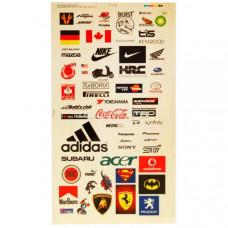 Набор наклеек для моделей Popular Branding (1лист)