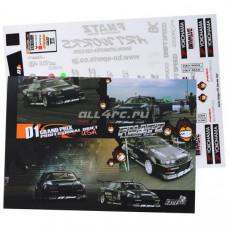 Набор наклеек для моделей NEW D1 Grand Prix USA Self Adhesive