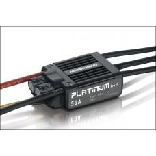Бесколлекторный регулятор Platinum 50A-V3 для авиа моделей