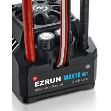 Бесколлекторный влагозащищённый регулятор EzRun MAX10 SCT для масштаба 1:10