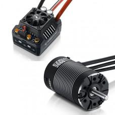 Бессенсорная бесколлекторная система Ezrun COMBO MAX10 SCT 3660SL 4600KV для масштаба 1:10