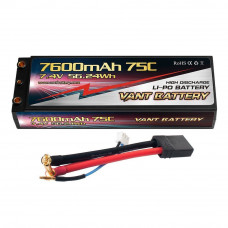Аккумулятор VANT Black Li-Po 2S2P 7600mAh 75C TRX Hard case