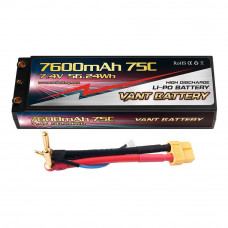 Аккумулятор VANT Black Li-Po 2S2P 7600mAh 75C XT60 Hard case
