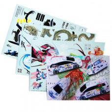 Набор наклеек для моделей Japanese Cartoon (3 листа)