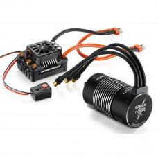 Бесколлекторая бессенсорная влагозащищенная система HobbyWing EZRUN MAX8 T-Plug 4268SL 2600Kv