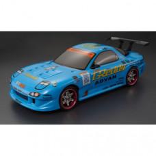 Кузов Mazda RX7 не окрашенный с отражателями, спойлерами и комплектом стайлинга