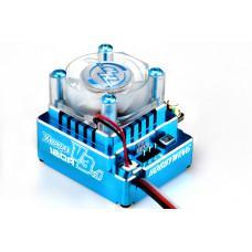 Бесколлекторный сенсорный регулятор Xerun 120A-v3.1 Blue для автомоделей масштаба 1:10 синий