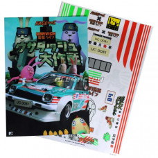 Набор наклеек для моделей Usavich Jail Break Rabbit (1 лист)