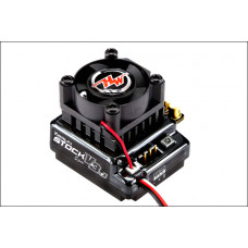 Бесколлекторный сенсорный регулятор Xerun 100A-v3.1 STOCK Spec для автомоделей масштаба 1:10 чёрный