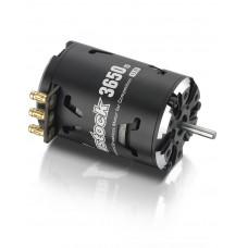 Бесколлекторный сенсорный мотор Justock 3650SD 10.5T BLACK G2 для шоссейных и дрифтовых моделей масштаба 1/10