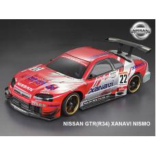 Кузов Nissan GTR (R34) не окрашенный с наклейками и спойлером