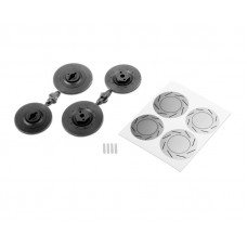 Wheel hubs w/disc shape (large)