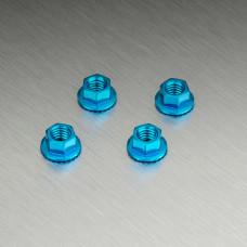 Alum. wheel nut (blue)(4)