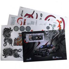 Набор наклеек для моделей Ryu-ga-gotoku Yakuza The Japanese Mafia (3 листа)