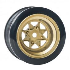 Комплект дисков серии JDM Style, 4 шт., 8 спиц, золотистые, вылет 3мм