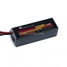Li-Po Hard case 11.1v 6200mAh 45C with Deans to Banana Connector