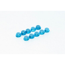 ALUMINUM NYLON NUT WITH FLAGE 2mm BLUE