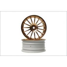 Wheel(15-Spoke/Gold/24mm/2Pcs)