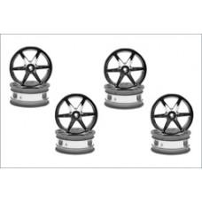 Wheel6-Spoke/24mm/Chrome Plated/8Pcs