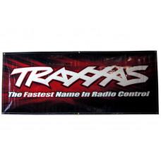 Traxxas racing banner, red & black (3x7 feet)