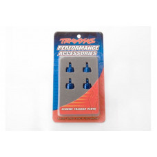 Shock caps, aluminum (blue-anodized) (4) (fits all Ultra Shocks)