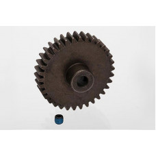 Gear, 34-T pinion (1.0 metric pitch, 20° pressure angle) (fits 5mm shaft): set screw