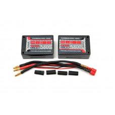 Carbon Pro LiPo 7,4В(2s) 5800mAh 100C Saddle Pack Tubes