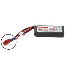 Li-Po 11,1В(3S) 1600mah 50C SoftCase Deans plug