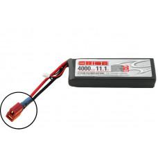 Li-Po 11,1В(3S) 4000mah 50C SoftCase Deans plug with LED charge status