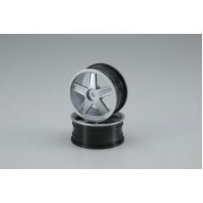 Wheel(5-Spoke/Silver/24mm/2pcs)