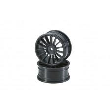 Wheel(15-Spoke/Black/24mm/2pcs)