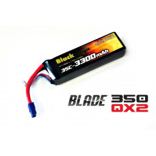 LiPo 11,1В(3S) 3300mAh 25C Soft Case EC3 (for BLADE 350 QX2 and QX3)