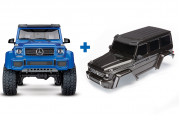 TRX-4 Mercedes G 500 1:10 4WD Scale and Trail Crawler Blue + Body, Mercedes-Benz® G 500® 4x4², complete (black)