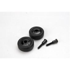 Wheels (4)/ Axles (2), for Maxx wheelie bar
