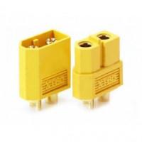 Разъем XT60 - 3.3mm connector (папа+мама / желтый)
