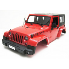 Jeep Wrangler Body For 1/10 RC Crawler Hard Top Red