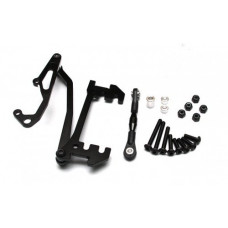 Axial SCX10 Aluminum Servo Mount With Panhard Bar - 1set Black
