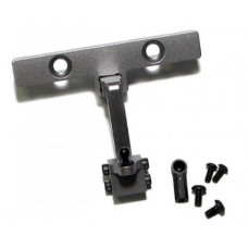 Axial SCX10 Aluminum Adjustable Tow Hitch - 1set Gun Metal