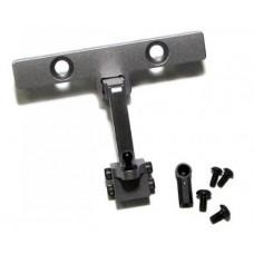 Axial SCX10 Aluminum Adjustable Tow Hitch - 1set Gun Metal